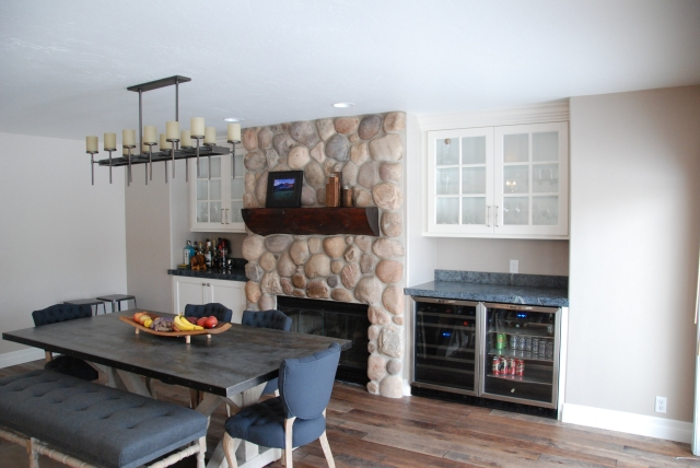 6 Cutter Fireplace wall