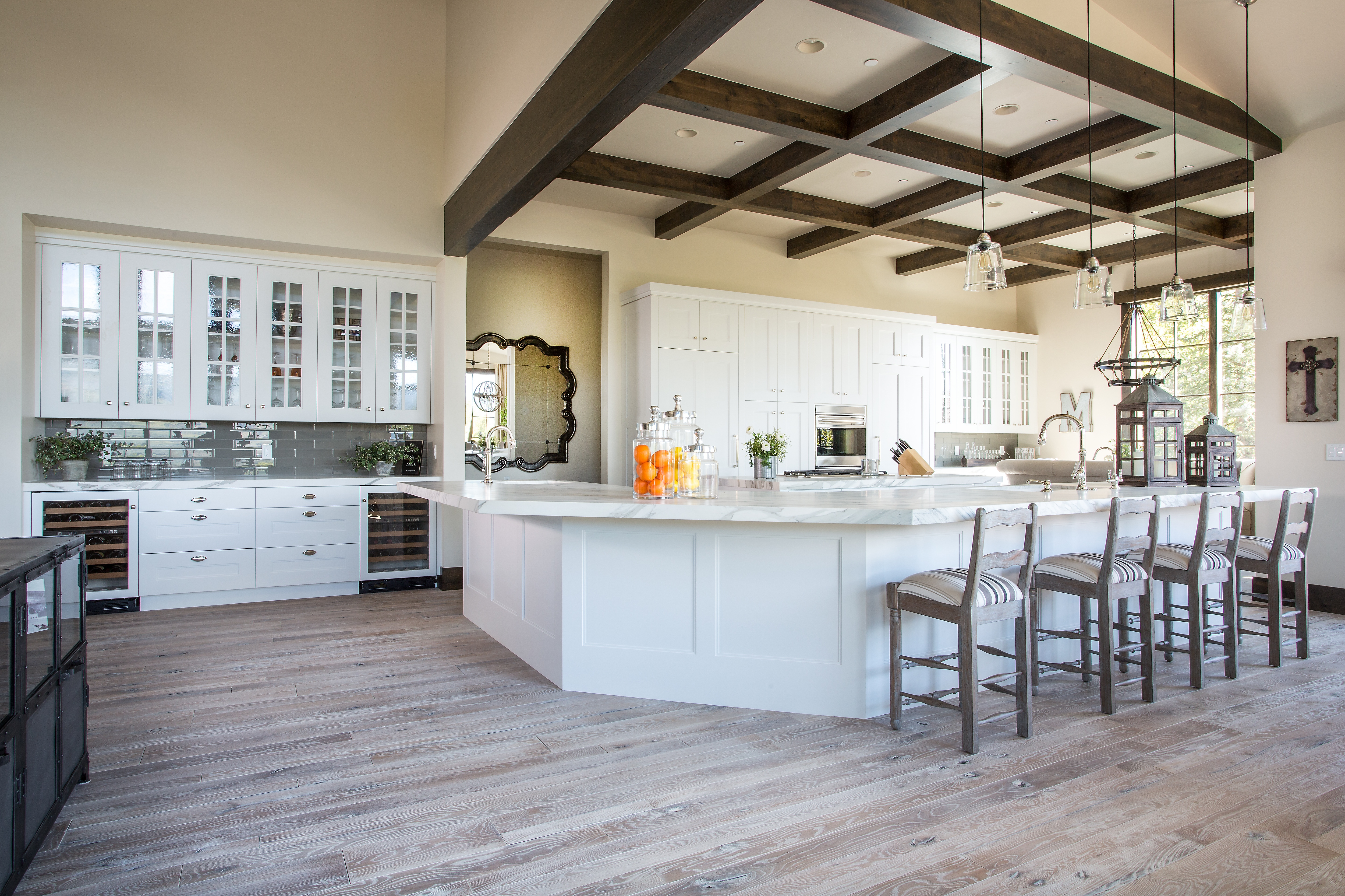 This Kitchen Has Everything You Could Want High End Appliances 2 Large Islands A Hidden Pantry Door That Leads To Walk In Must For