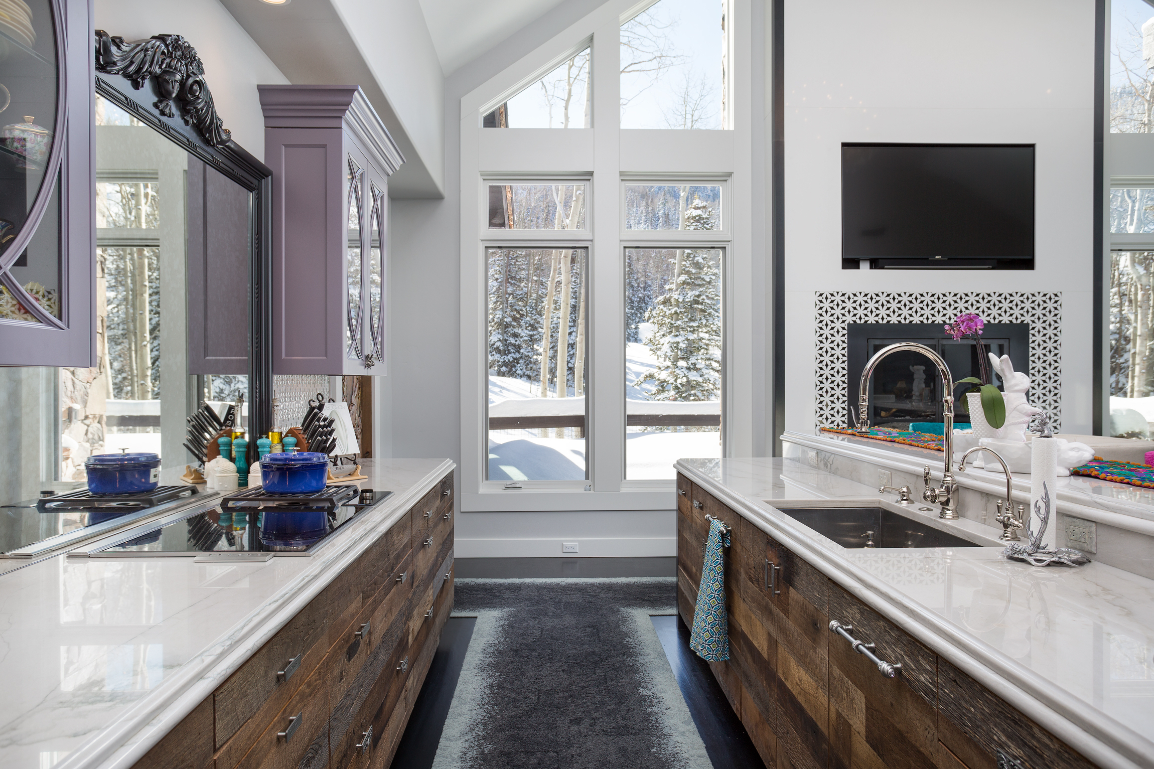 This Beautiful Park City Ski Resort Homes Kitchen Turned Out Absolutely Amazing And Its The Result Of Many Meetings With Client To Sort Through Her